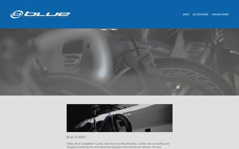 Screenshot of About Page rideblue.com - Blue Competition Cycles-ABOUT US - captured July 31, 2017