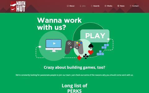Screenshot of Jobs Page mavenhut.com - Jobs – Maven Hut - captured Nov. 4, 2018
