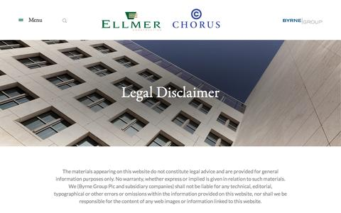 Screenshot of Terms Page ellmerchorus.co.uk - Legal | Ellmer & Chorus - captured Nov. 5, 2016