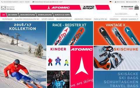 Screenshot of Home Page atomic-xspo.de - Atomic XSPO - captured Jan. 29, 2017