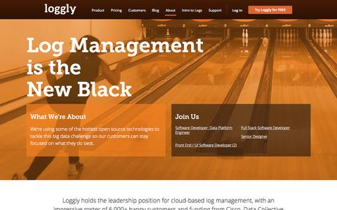 Screenshot of Jobs Page loggly.com - Careers at Loggly - captured Oct. 1, 2015