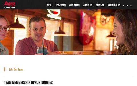 Screenshot of Jobs Page logansroadhouse.com - Careers - Logans Roadhouse - captured Feb. 2, 2016