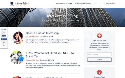 Screenshot of Blog interviewbull.com - Interview Bull Blog - captured Sept. 30, 2014