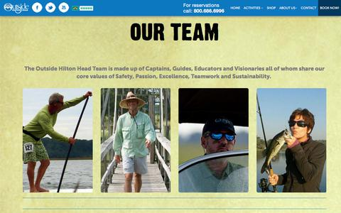 Screenshot of About Page Team Page outsidehiltonhead.com - Meet Our Outside Hilton Head Team Whose Passion is Your Adventure - captured Nov. 12, 2017