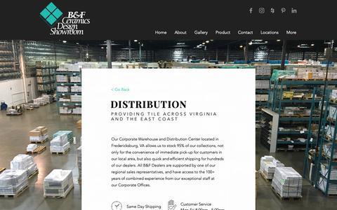 Screenshot of Services Page bfceramics.com - B&F Ceramics - Services - captured Sept. 26, 2018