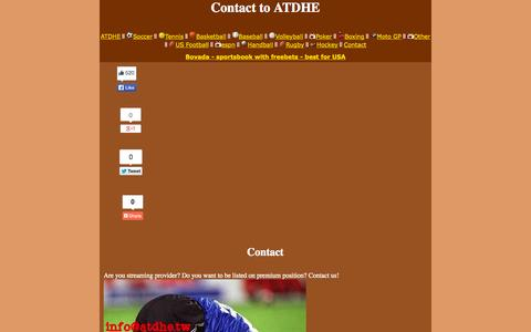 Screenshot of Contact Page atdhe.sx - Contact - captured Oct. 29, 2014