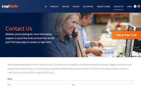 Screenshot of Contact Page logisuite.com - Logisuite Corporation | Contact - captured Sept. 24, 2018