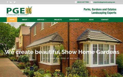Screenshot of Home Page pgelandscaping.com - Home - PGE Landscaping - captured Nov. 9, 2018