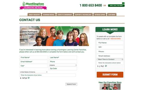 Own a Learning Center Franchise Business | Contact Huntington Today