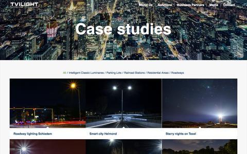 Screenshot of Case Studies Page tvilight.com - Case Studies – Tvilight – Empowering Intelligence - captured Oct. 6, 2017