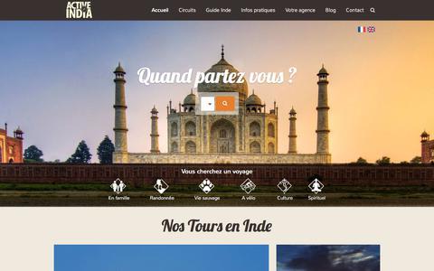 Screenshot of Home Page voyageinde.fr - Voyage Inde - Agence de voyage en Inde - captured March 15, 2018