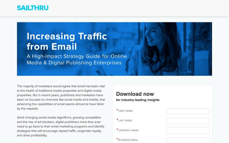 Increasing Traffic from Email for Publishers | Sailthru