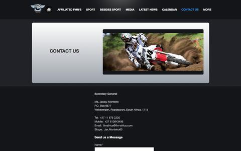 Screenshot of Contact Page webs.com - FIM AFRICA - CONTACT US - captured Aug. 9, 2018