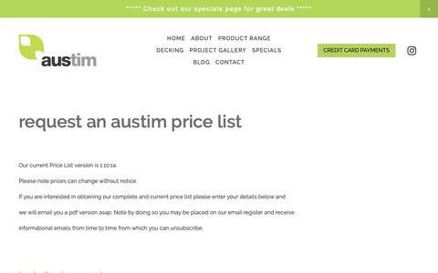 Screenshot of Pricing Page austim.com.au - Pricing - captured Feb. 16, 2019