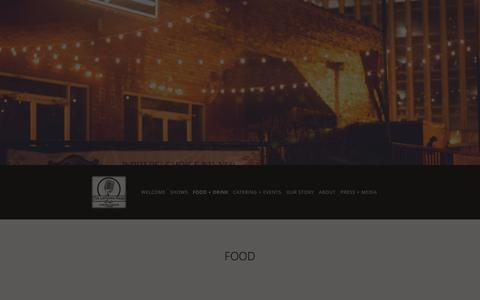 Screenshot of Menu Page listeningroomcafe.com - food + drink — The Listening Room Cafe - captured Nov. 5, 2014