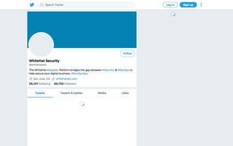 Tweets by WhiteHat Security (@whitehatsec) – Twitter