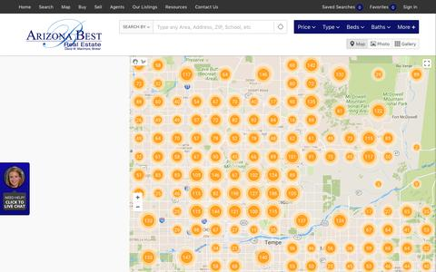 Screenshot of Maps & Directions Page arizonabest.com - Real Estate Search Results :: Phoenix Real Estate :: Arizona Best Real Estate - captured Oct. 8, 2017