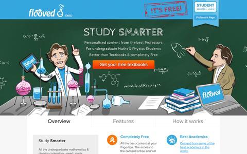Screenshot of Home Page flooved.com - Flooved - captured Sept. 16, 2014