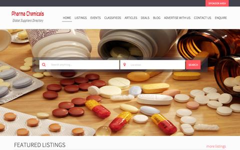 Screenshot of Home Page pharmachemicals.com - Home Page | Pharmaceutical and Pharma Chemicals Business and Suppliers Directory - captured Nov. 5, 2016