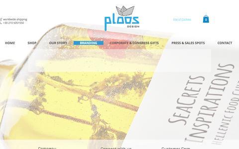 Screenshot of Services Page ploosdesign.com - Branding Services | Greek Designers | Ploos Design - captured July 19, 2018