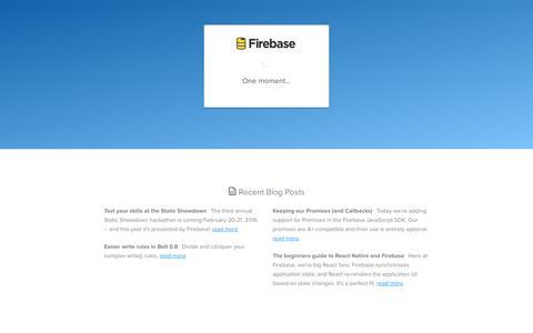 Screenshot of Signup Page firebase.com - Signup - Firebase - captured Feb. 3, 2016