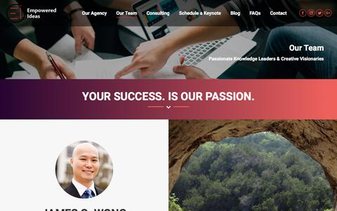 Screenshot of Team Page empoweredideas.com - Our Team – Empowered Ideas - captured July 19, 2018
