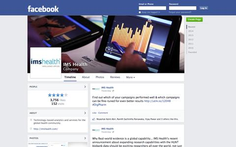 Screenshot of Facebook Page facebook.com - IMS Health - Danbury, CT - Company | Facebook - captured Oct. 26, 2014