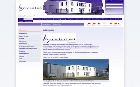 Screenshot of About Page enviolet.com - Unternehmen: enviolet.com - captured Feb. 2, 2016