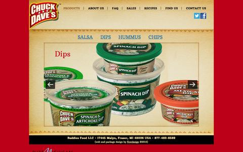 Screenshot of Products Page chuckanddaves.net - Products | Chuck and Dave's - captured Oct. 5, 2014