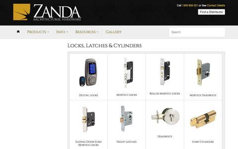 Locks, Latches & Cylinders – Zanda Architectural Hardware