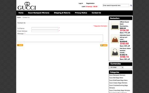 Screenshot of Contact Page word-wide.us - Contact Us : Gucci online for sale in discount, Gucci Bags online - captured Oct. 7, 2014