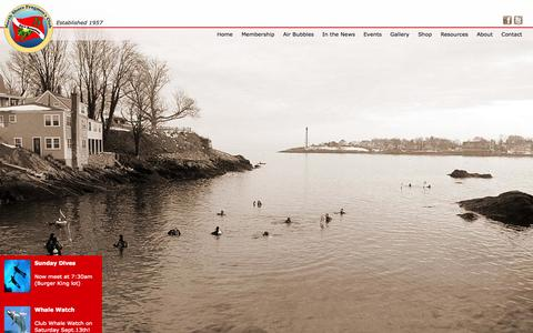Screenshot of Home Page northshorefrogmen.com - North Shore Frogmen | Scuba Diving Club | Salem, MA - captured Oct. 6, 2014