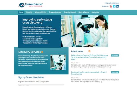 Screenshot of Case Studies Page cellectricon.com - Cellectricon - captured Sept. 29, 2014