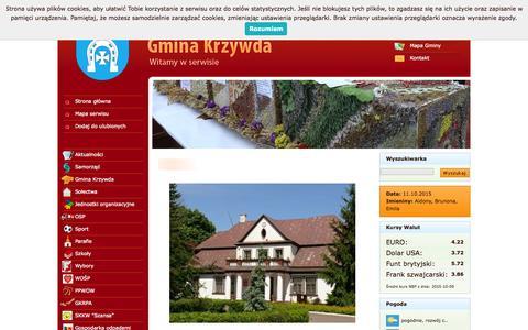 Screenshot of Home Page gminakrzywda.com - Gmina Krzywda - captured Oct. 11, 2015