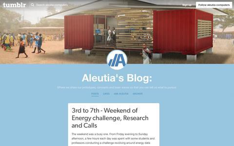 Screenshot of Blog aleutia.com - Aleutia's Blog: - captured Oct. 3, 2018