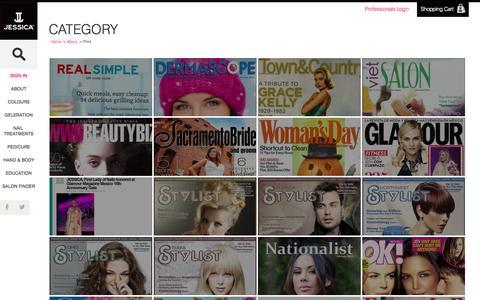 Screenshot of Press Page jessicacosmetics.com - Jessica Cosmetics - captured Oct. 4, 2014