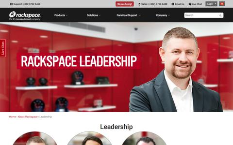 Screenshot of Team Page rackspace.com.hk - Leadership | Rackspace Hosting - captured Oct. 31, 2014