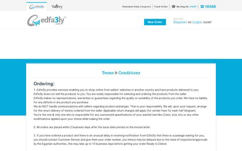 Screenshot of Terms Page edfa3ly.co - Terms & Conditions - Edfa3ly - captured July 19, 2014