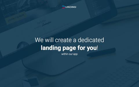 We will create a dedicated landing page for you!