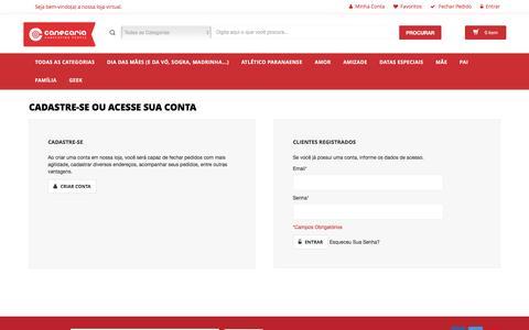 Screenshot of Login Page canecaria.com.br - Login de Cliente - captured May 14, 2017