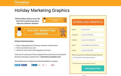 Screenshot of Landing Page thrivehive.com - Holiday Marketing Graphics   ThriveHive - captured Aug. 19, 2016