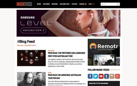 Screenshot of Blog musicfeeds.com.au - Blog Feed - Music News, Reviews, Interviews and Culture - Music Feeds - captured Oct. 2, 2015