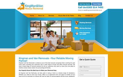 Screenshot of Services Page kingmanandvanlondon.co.uk - Kingman Removals Services | King Man And Van - captured Nov. 1, 2014