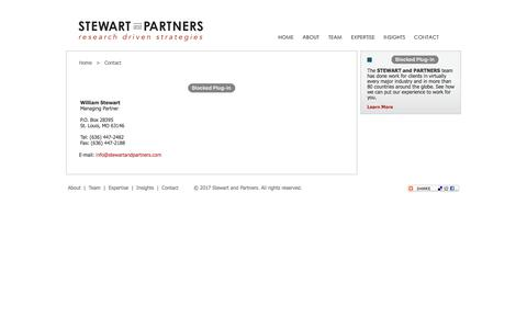 Screenshot of Contact Page stewartandpartners.com - Stewart and Partners - Contact Us - captured Oct. 1, 2017