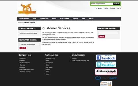Screenshot of Support Page liquidignition.com - Customer Services  - Liquid Ignition - captured Oct. 2, 2014
