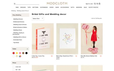 Fun Bridal Gifts & Vintage-Style Wedding Decor | ModCloth