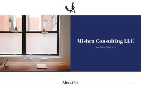Screenshot of Home Page mishraconsulting.com - Mishra Consulting LLC - captured Nov. 8, 2017