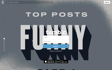 Screenshot of Login Page tumblr.com - Log in | Tumblr - captured Dec. 27, 2015