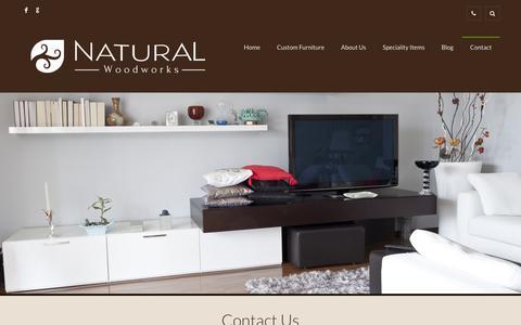 Screenshot of Contact Page naturalwoodworks.com - Contact I Natural Wood Works I Custom Built Wood Furniture - captured Jan. 10, 2016