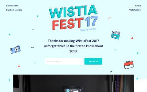 WistiaFest 2017 | Wistia Events